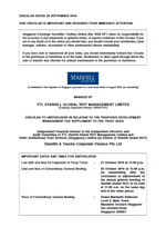 Circular To Unitholders In Relation To The Proposed Development Management Fee Supplement To The Trust Deed