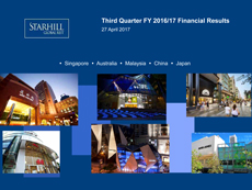 STARHILL GLOBAL REIT 3Q FY2016/17 RESULTS