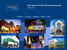 Starhill Global REIT 3Q FY2017/18 Results