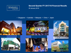 Starhill Global REIT 2Q FY2017/18 Results