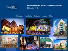 Starhill Global REIT 1Q FY 2019/20 Results
